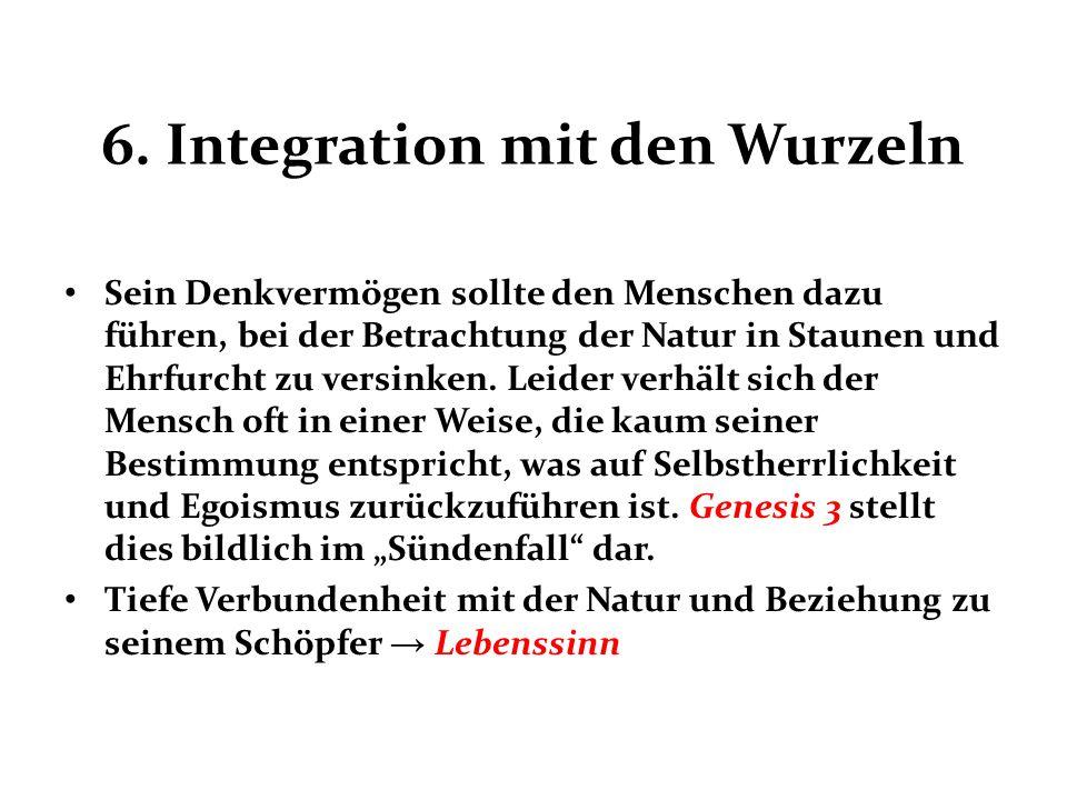 6. Integration mit den Wurzeln