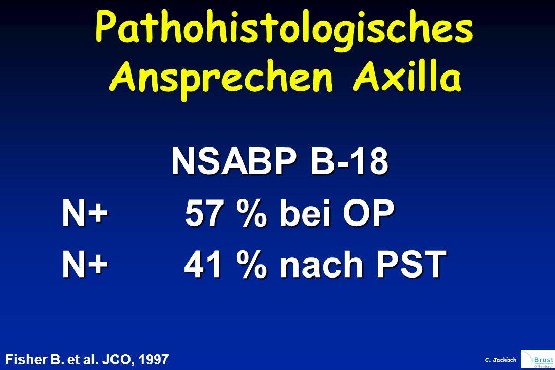 Pathohistologisches Ansprechen Axilla