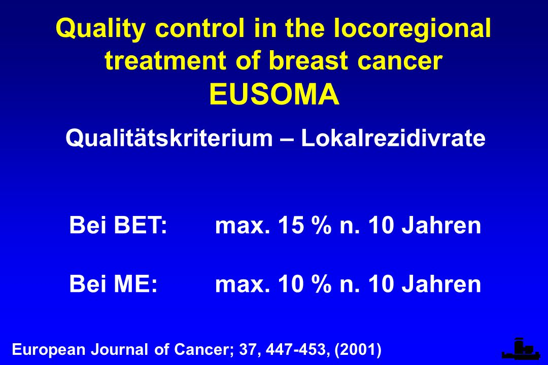 EUSOMA Quality control in the locoregional treatment of breast cancer