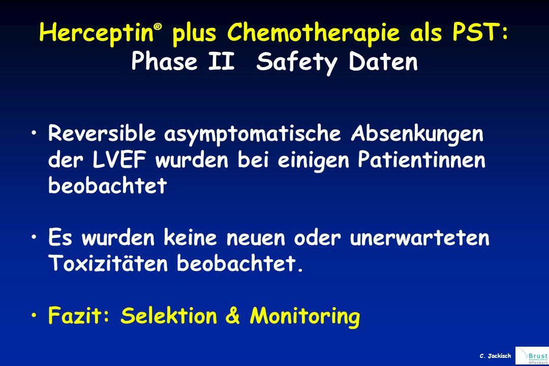 Herceptin® plus Chemotherapie als PST: Phase II Safety Daten