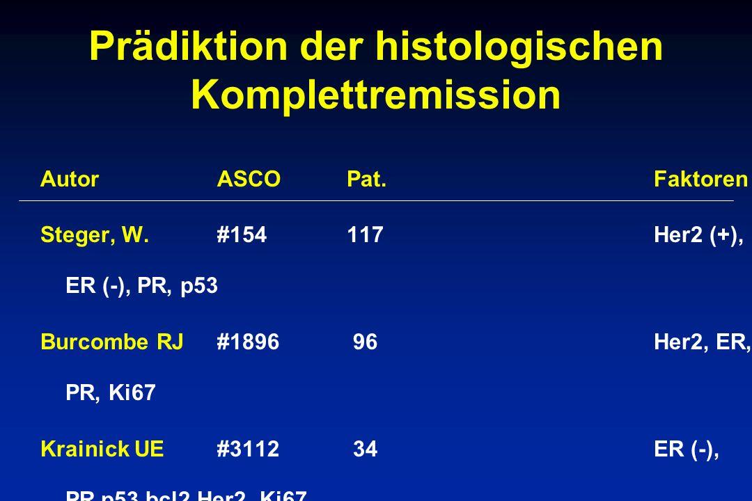 Prädiktion der histologischen Komplettremission