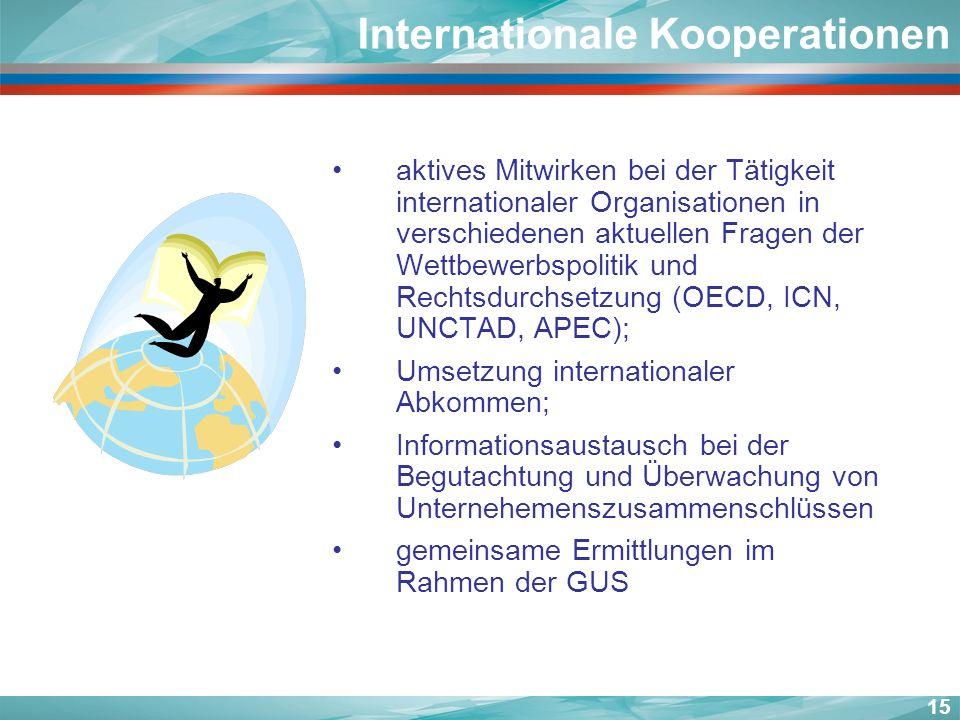 Internationale Kooperationen