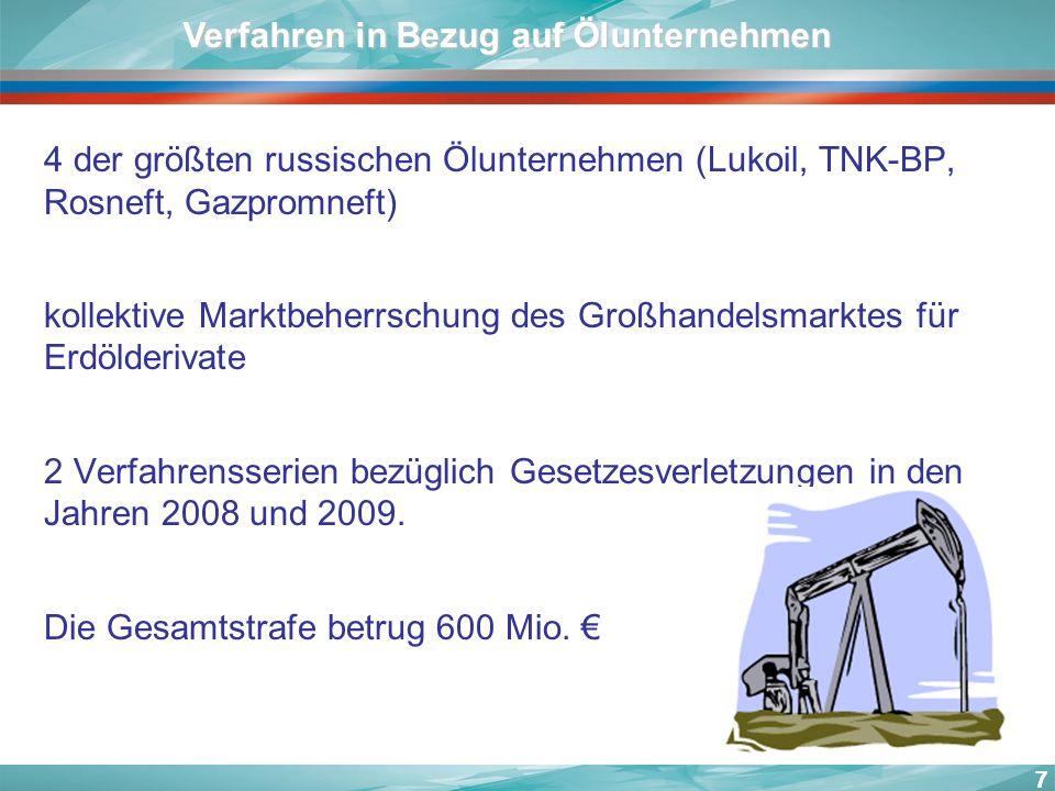 Verfahren in Bezug auf Ölunternehmen