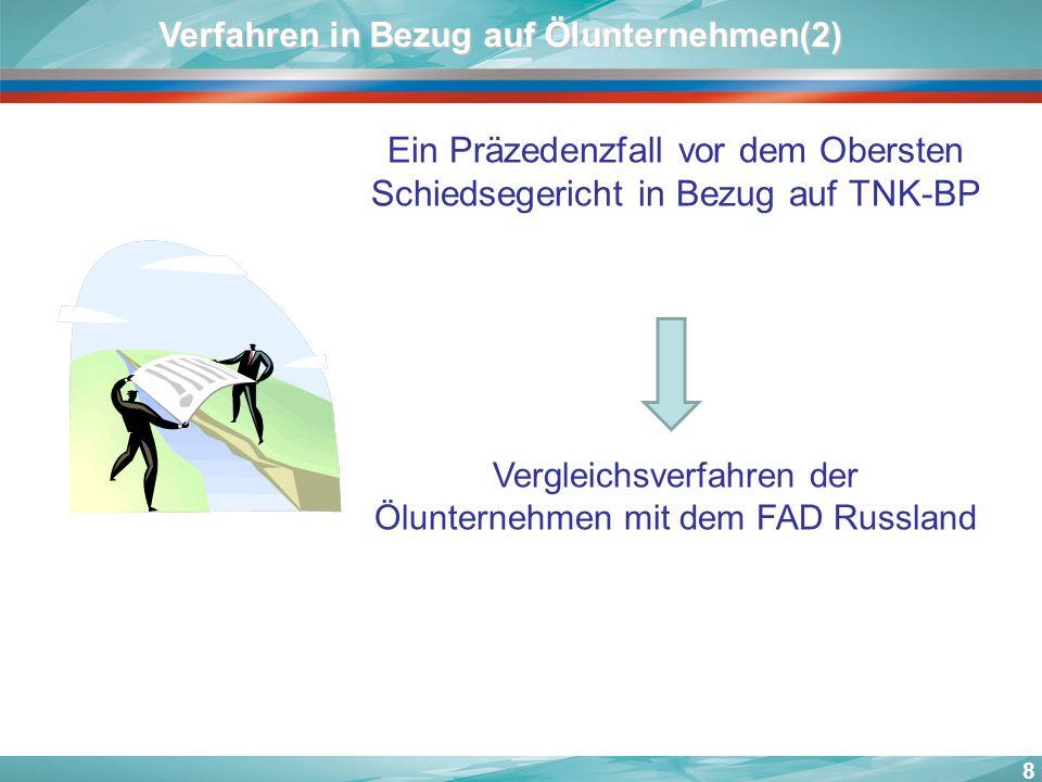 Verfahren in Bezug auf Ölunternehmen(2)