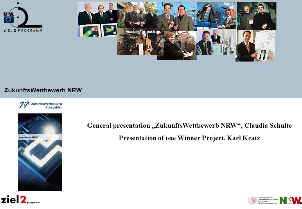 """General presentation """"ZukunftsWettbewerb NRW , Claudia Schulte"""