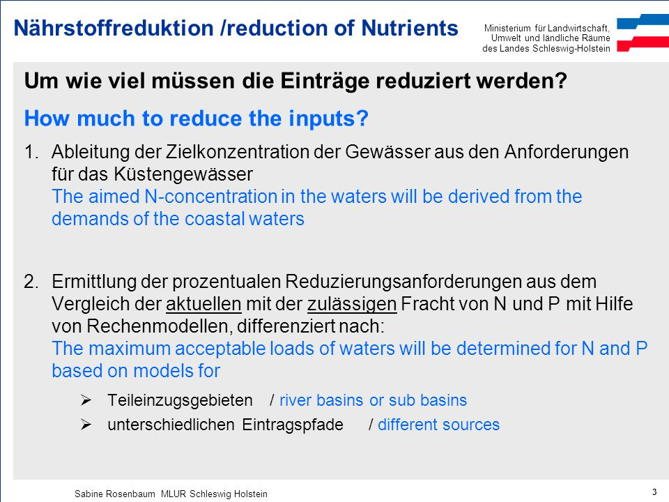 Nährstoffreduktion /reduction of Nutrients