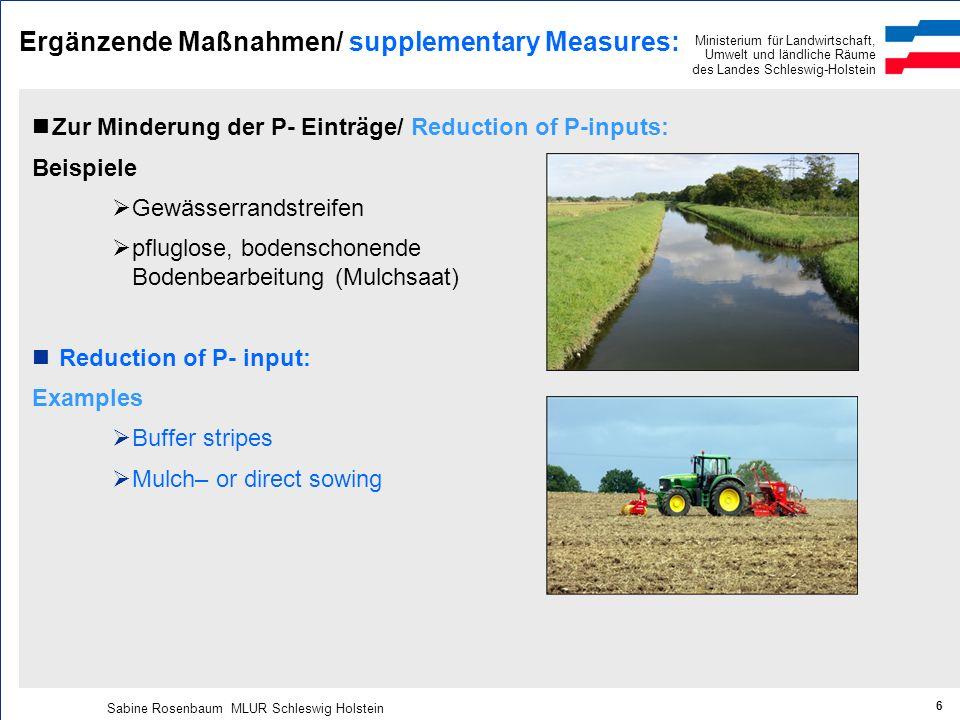 Ergänzende Maßnahmen/ supplementary Measures: