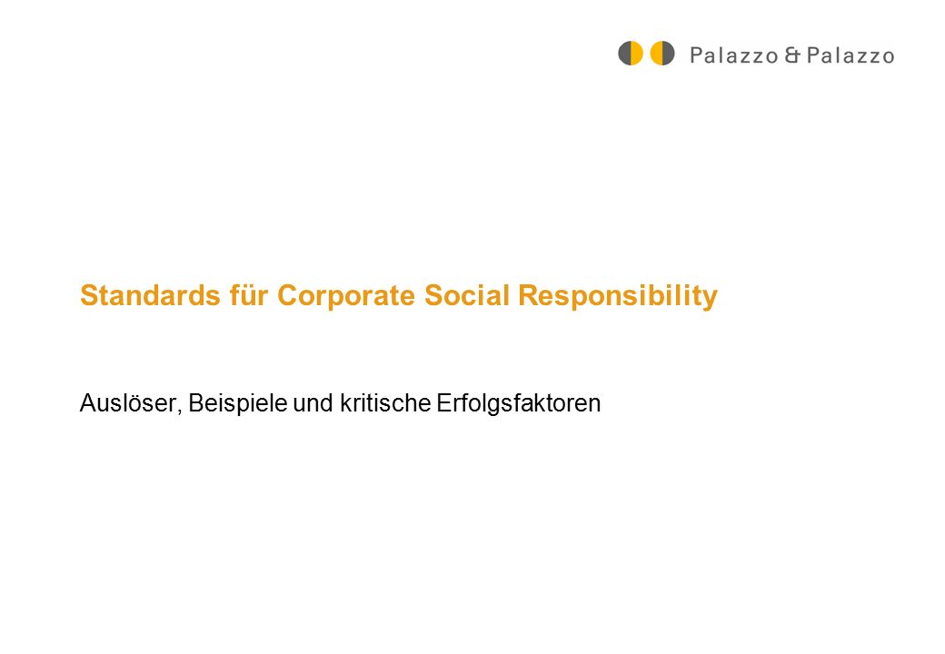 Standards für Corporate Social Responsibility