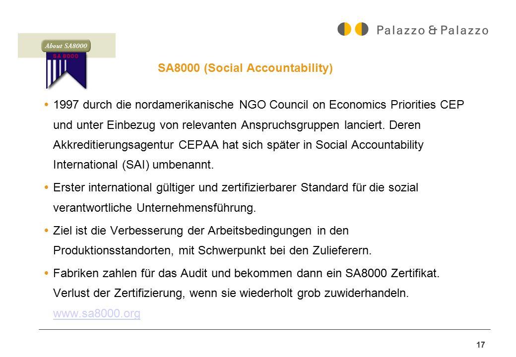 SA8000 (Social Accountability)