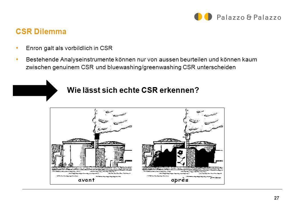 Wie lässt sich echte CSR erkennen