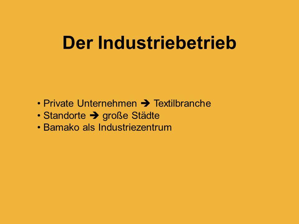 Der Industriebetrieb Private Unternehmen  Textilbranche
