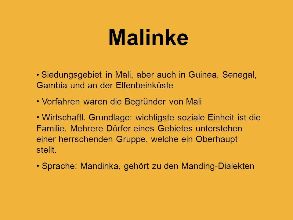 Malinke Vorfahren waren die Begründer von Mali