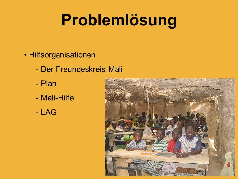 Problemlösung Hilfsorganisationen Der Freundeskreis Mali Plan