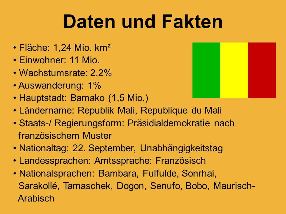 Daten und Fakten Fläche: 1,24 Mio. km² Einwohner: 11 Mio.