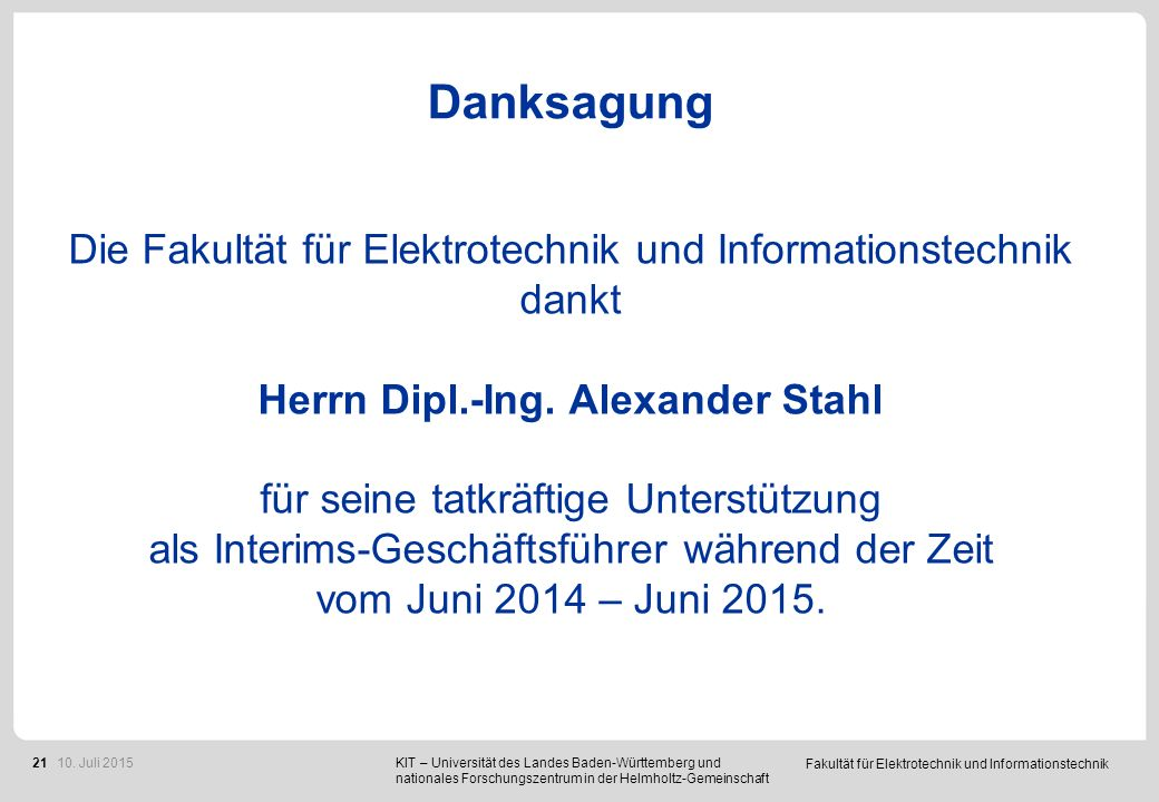 Berufungen Prof. Dr.-Ing Eric Sax Prof. Dr. Ivan Peric