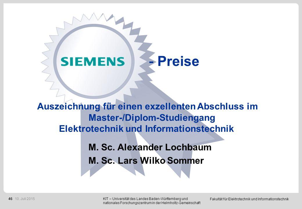 IPP - Preise B. Sc. Jens Achstetter B. Sc. Julius Kümmerle