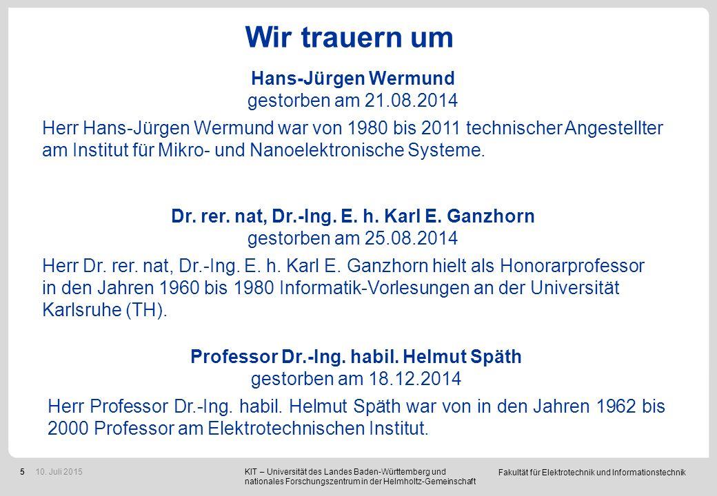 Wir trauern um Prof. Dr.-Ing. Amir M. Miri gestorben am 21.12.2014