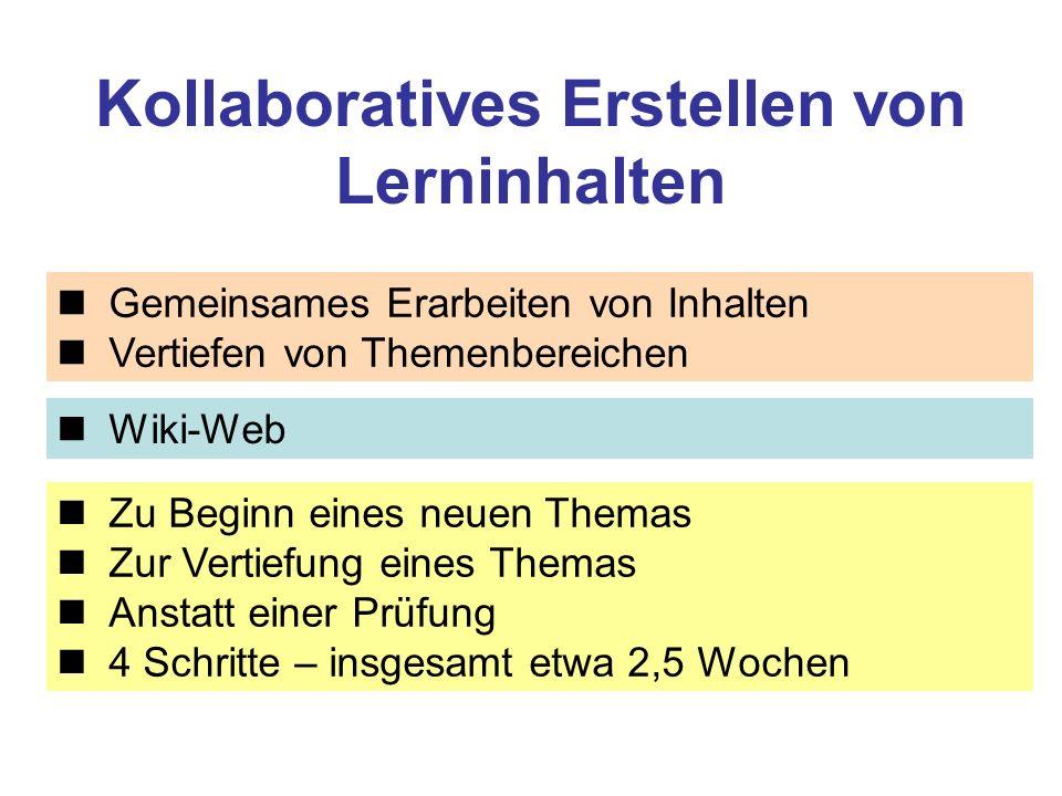 Kollaboratives Erstellen von Lerninhalten