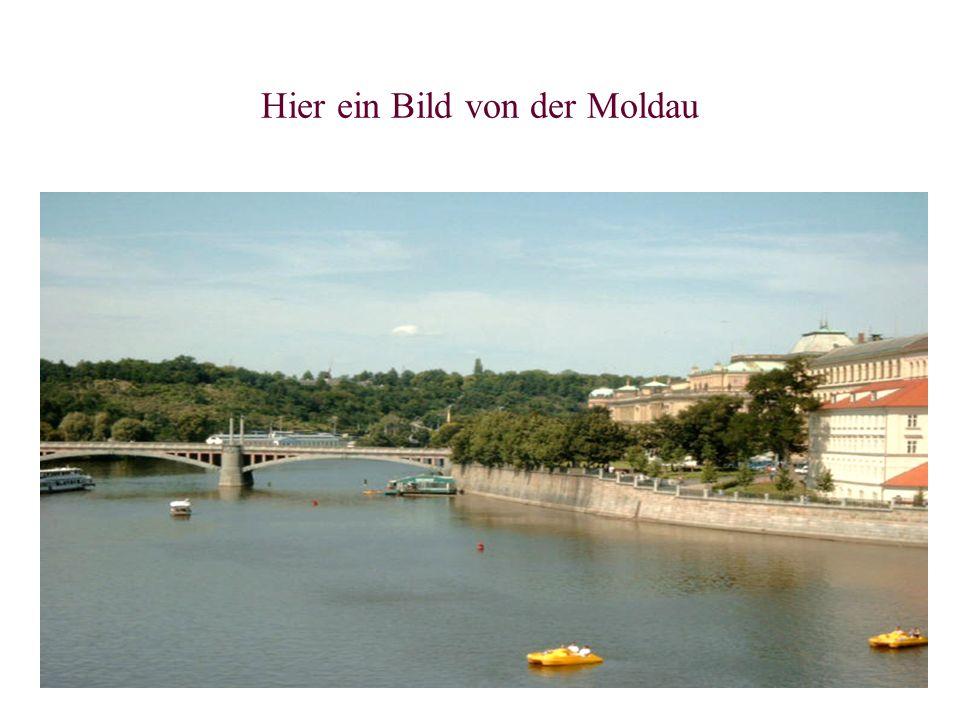 Hier ein Bild von der Moldau