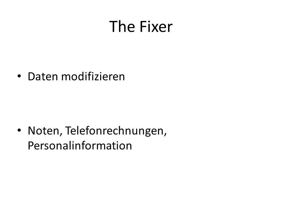 The Fixer Daten modifizieren