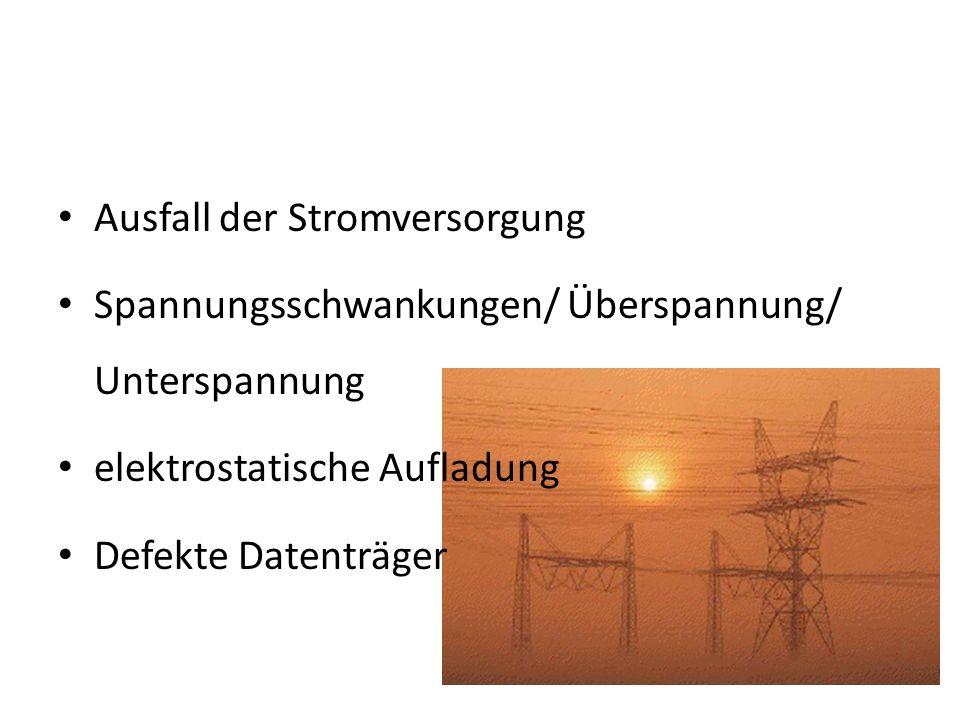 Ausfall der Stromversorgung