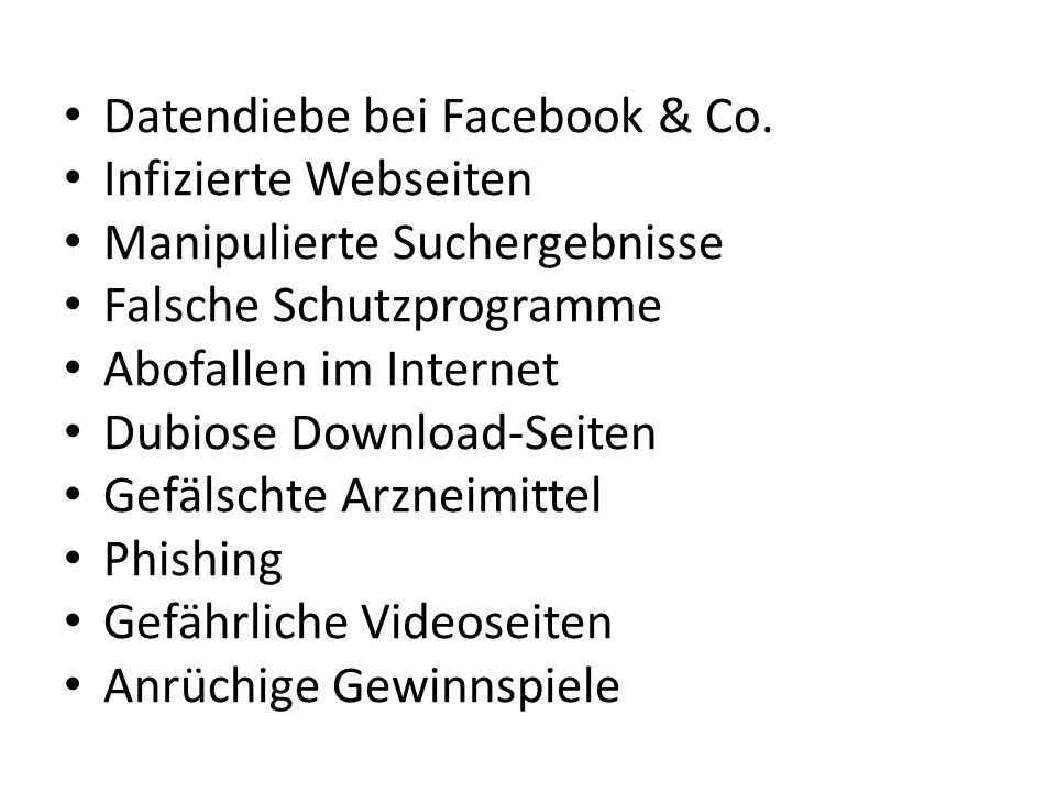 Datendiebe bei Facebook & Co.