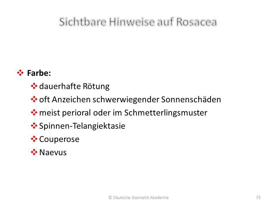 Sichtbare Hinweise auf Rosacea