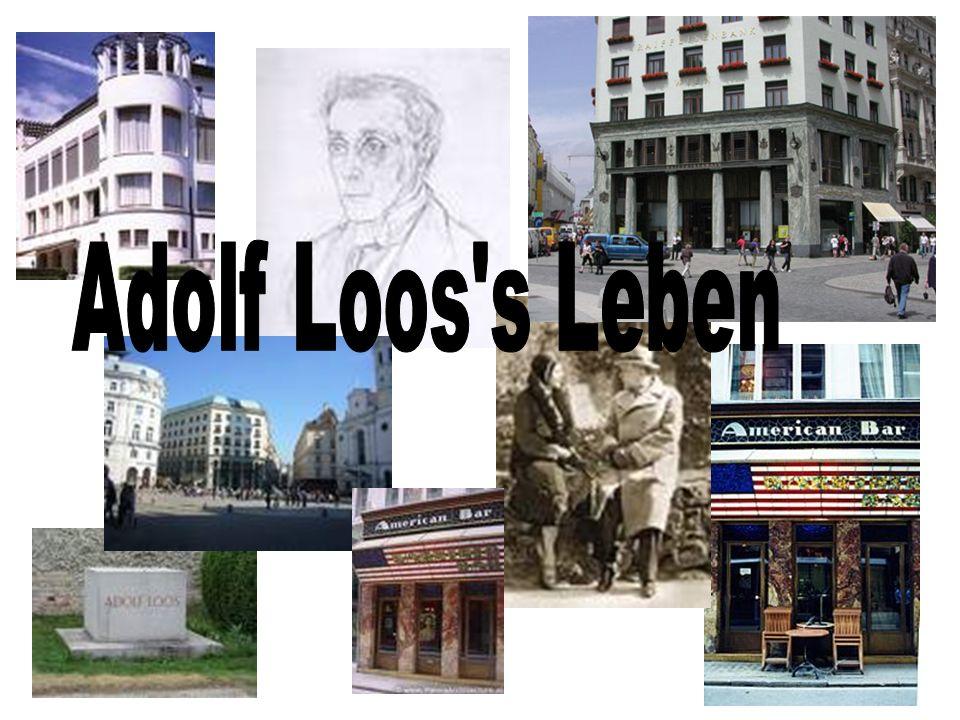 Adolf Loos s Leben
