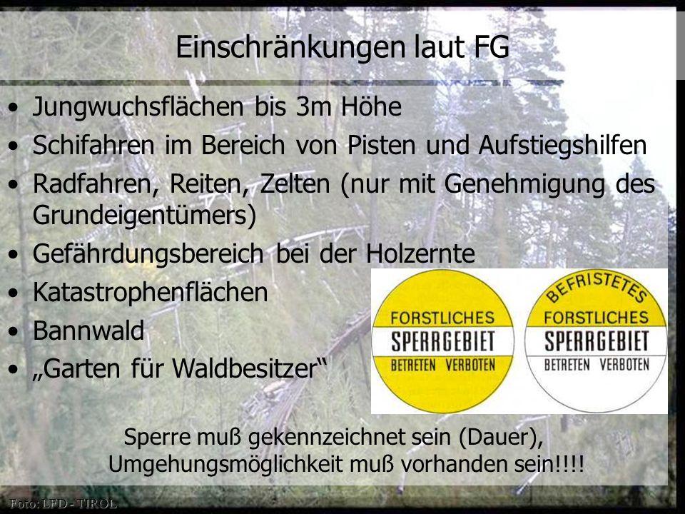 Einschränkungen laut FG