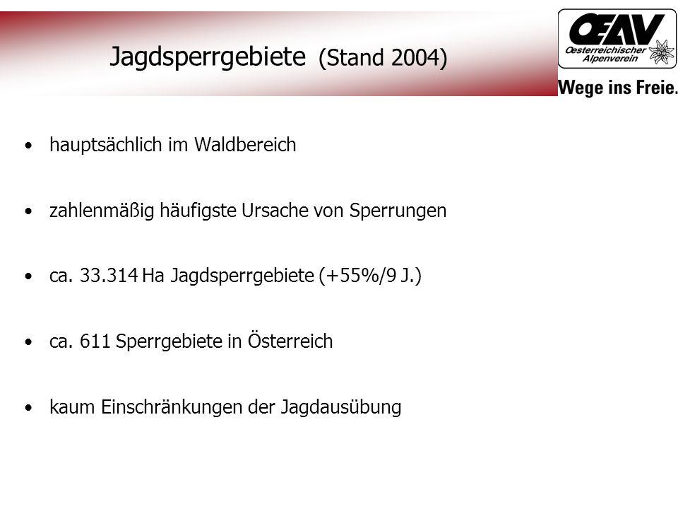 Jagdsperrgebiete (Stand 2004)
