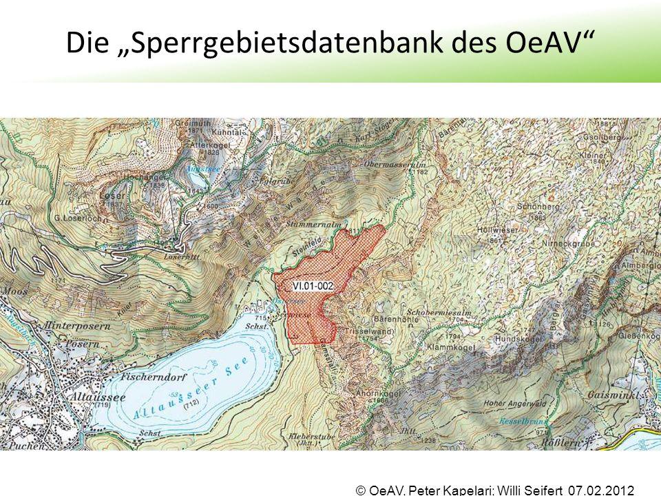 "Die ""Sperrgebietsdatenbank des OeAV"