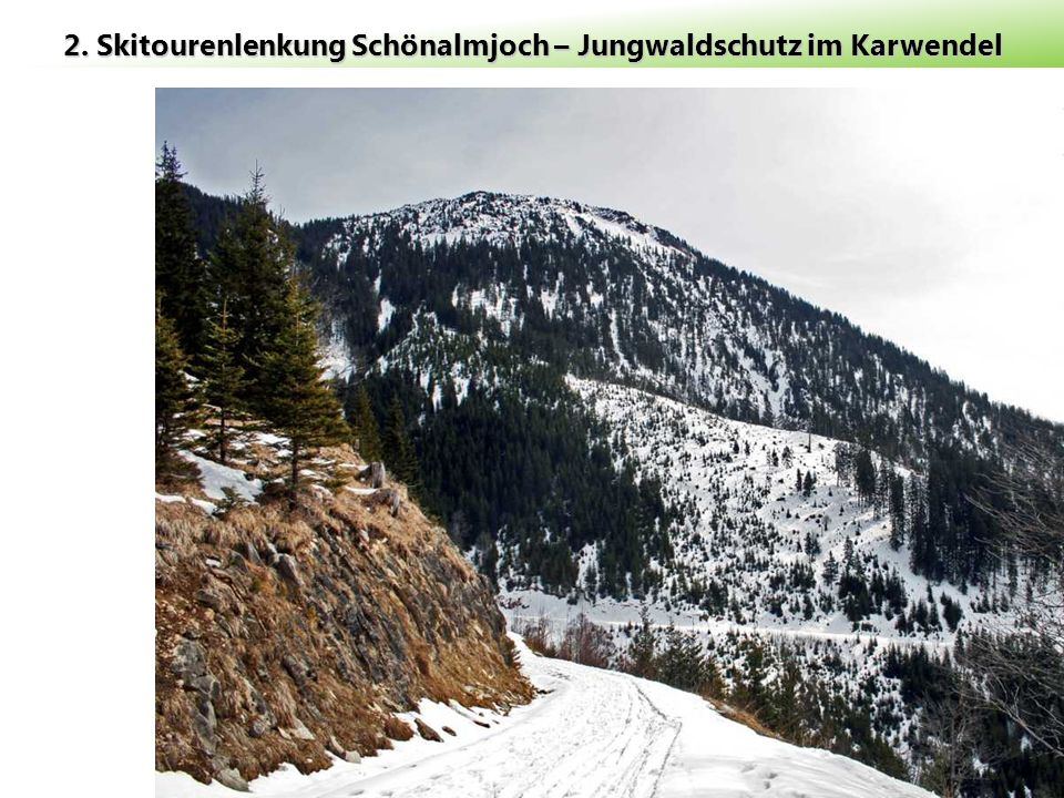 2. Skitourenlenkung Schönalmjoch – Jungwaldschutz im Karwendel