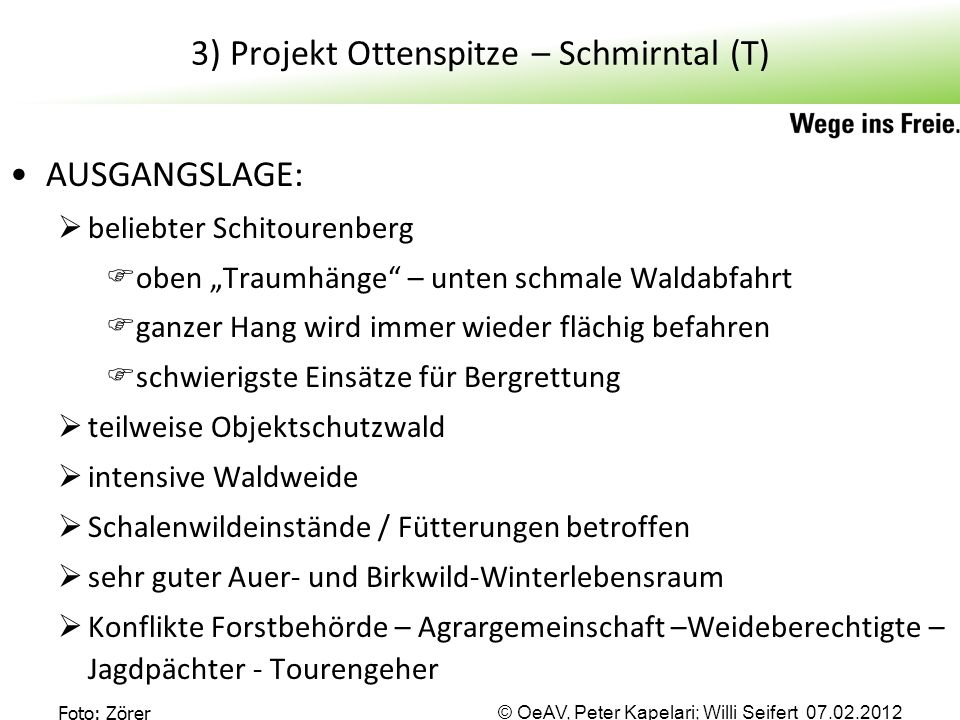 3) Projekt Ottenspitze – Schmirntal (T)