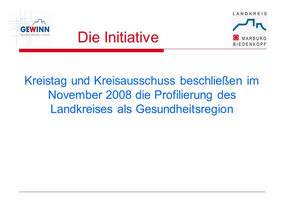Die Initiative Kreistag und Kreisausschuss beschließen im November 2008 die Profilierung des Landkreises als Gesundheitsregion.
