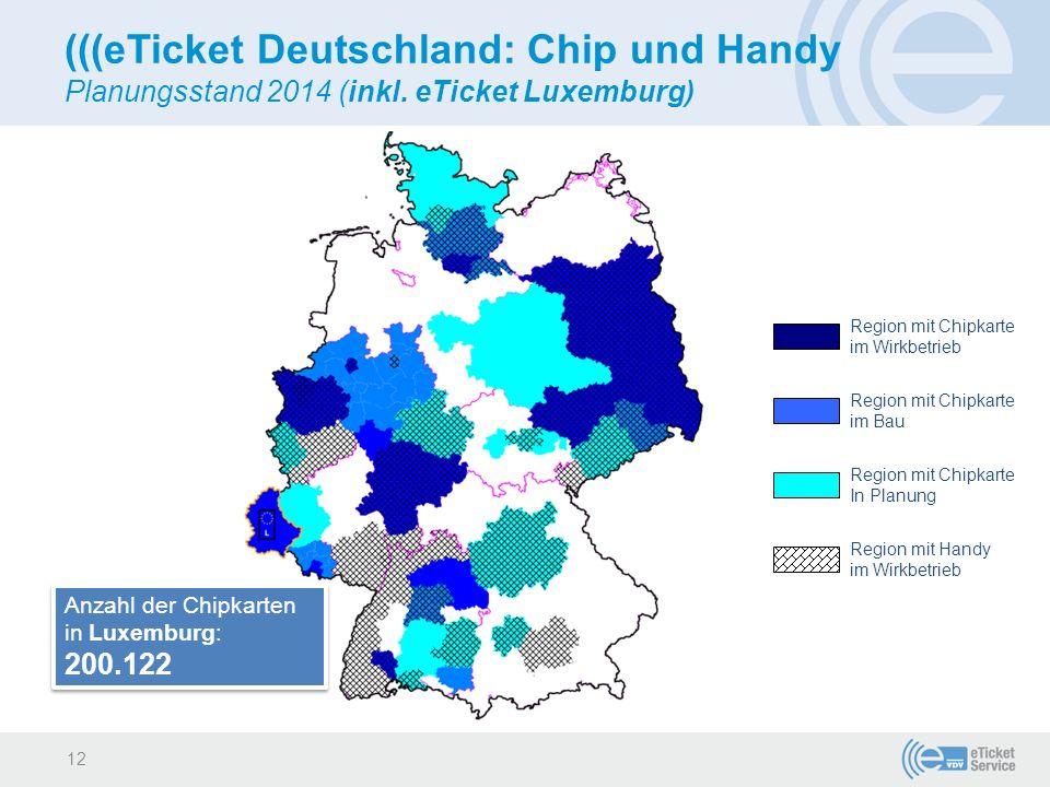 (((eTicket Deutschland: Chip und Handy Planungsstand 2014 (inkl