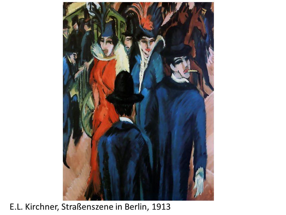 E.L. Kirchner, Straßenszene in Berlin, 1913