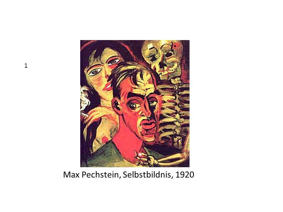 Max Pechstein, Selbstbildnis, 1920