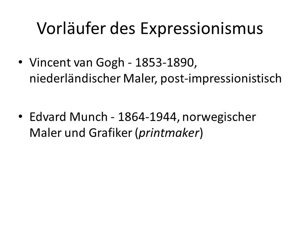 Vorläufer des Expressionismus