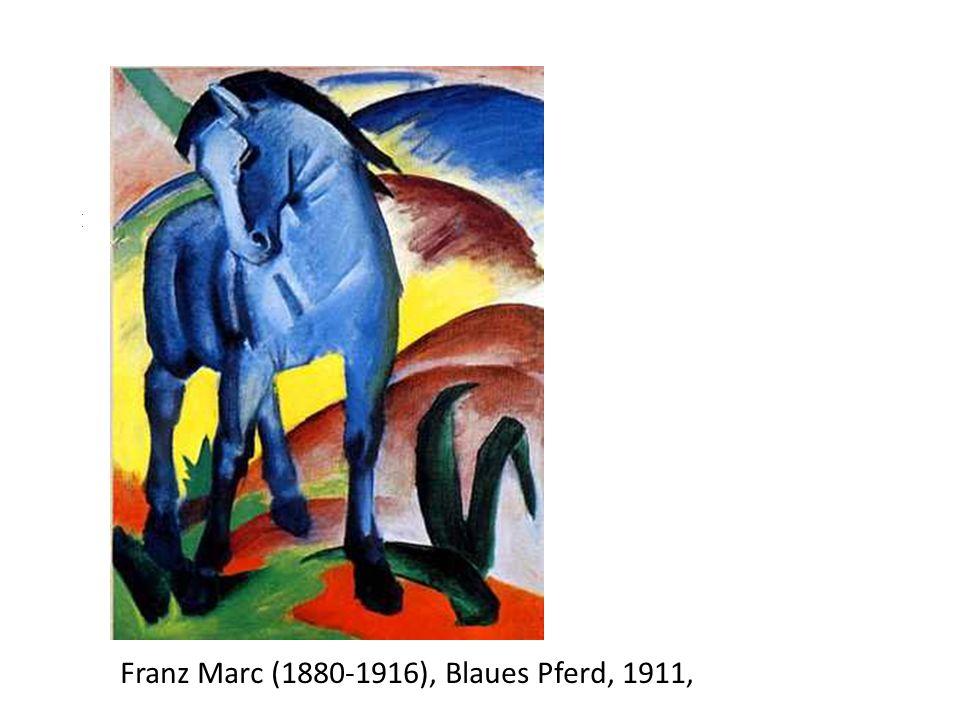 Nz Franz Marc (1880-1916), Blaues Pferd, 1911, 1