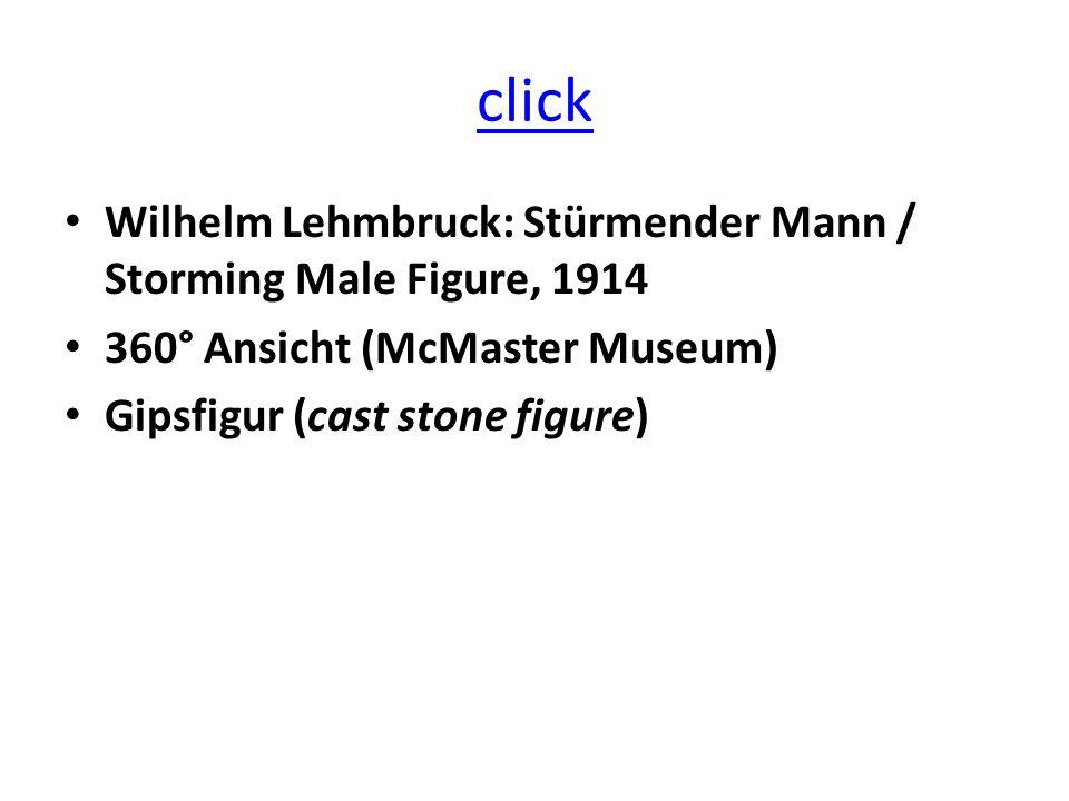 click Wilhelm Lehmbruck: Stürmender Mann / Storming Male Figure, 1914