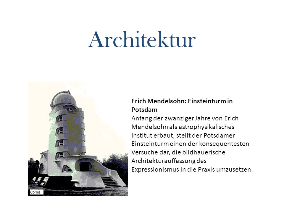 Architektur Erich Mendelsohn: Einsteinturm in Potsdam