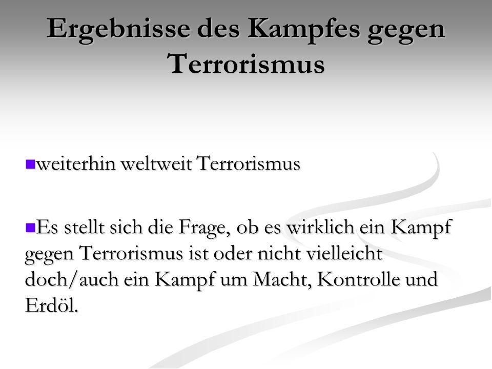 Ergebnisse des Kampfes gegen Terrorismus