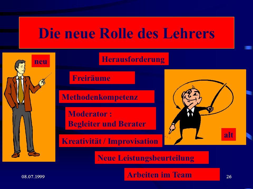 Die neue Rolle des Lehrers