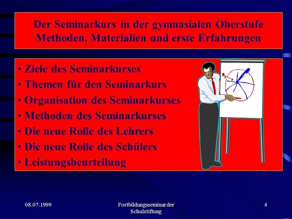 Fortbildungsseminar der Schulstiftung