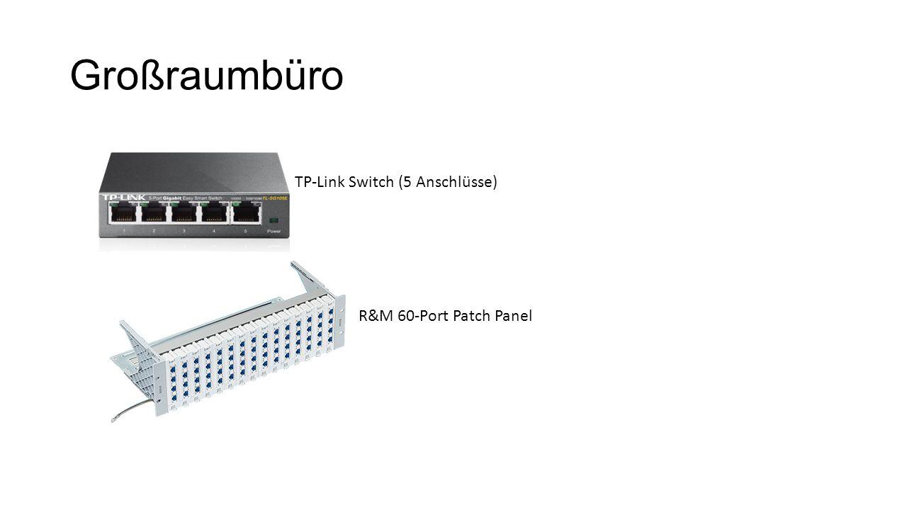 Großraumbüro TP-Link Switch (5 Anschlüsse) R&M 60-Port Patch Panel
