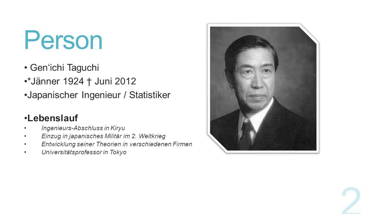 Person Gen'ichi Taguchi *Jänner 1924 † Juni 2012