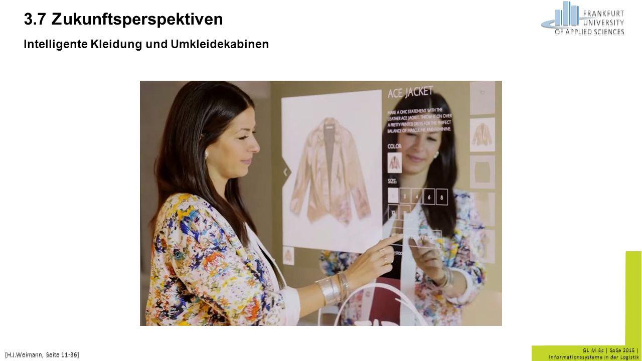3.7 Zukunftsperspektiven Intelligente Kleidung und Umkleidekabinen