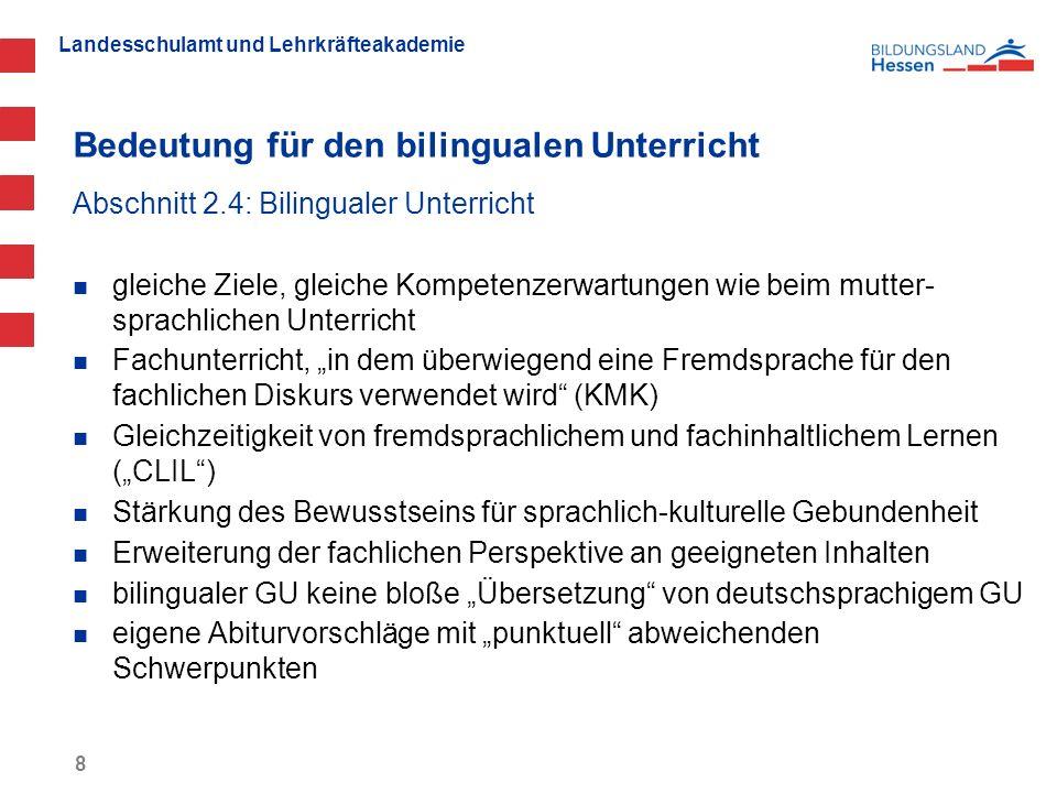 Bedeutung für den bilingualen Unterricht