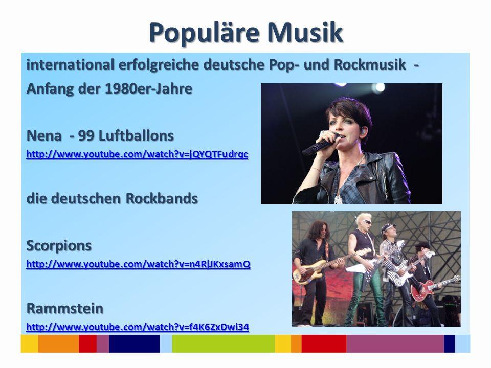 Populäre Musik international erfolgreiche deutsche Pop- und Rockmusik - Anfang der 1980er-Jahre. Nena - 99 Luftballons.