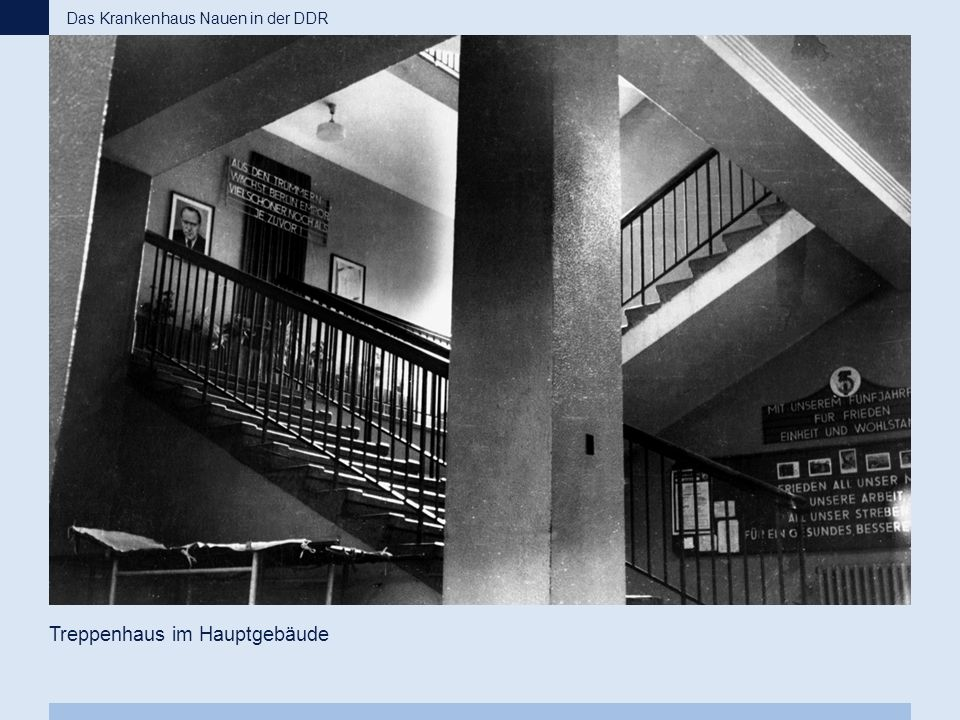 Treppenhaus im Hauptgebäude